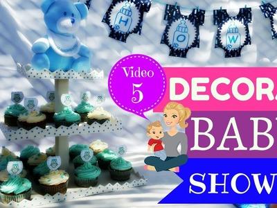 COMO DECORAR BABY SHOWER - BASE DE CUPCAKES PASO A PASO - STAND CUPCAKES