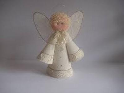 Como Fabricar un Angel con Yute Laminado - Hogar Tv por Juan Gonzalo Angel