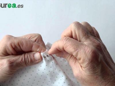 Cómo fruncir tela - aprender a coser - costurea
