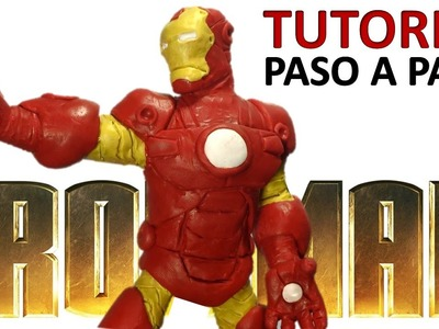 Como hacer a Iron man de plastilina de disney infinity. How to make Iron man with plasticine.