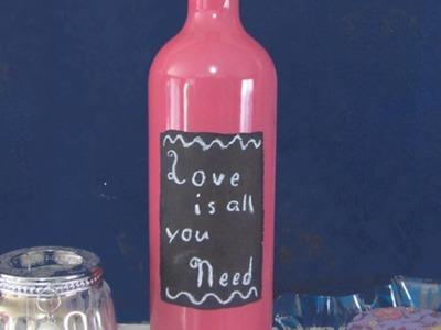 Como hacer bonitas botellas pintadas con un mensaje - Hazlo tu Mismo Hogar - Guidecentral