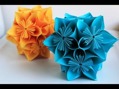 Como hacer flores de papel, estilo Kusudama | CREARTE