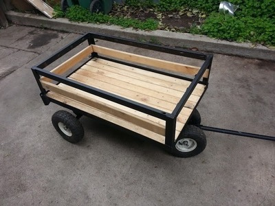 Como hacer un carrito para jalar how to make a pull wagon