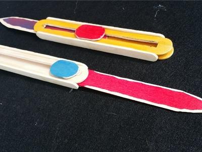 Cómo hacer un cuchillo OTF utilizando palitos de helado