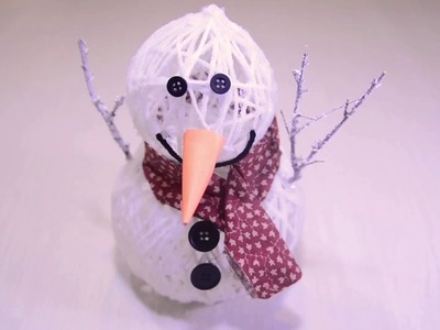 Cómo hacer un muñeco de nieve para la Decoración Navideña | FácilCromos