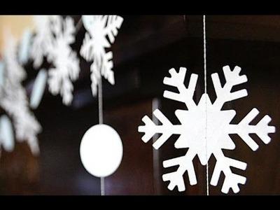 Copos de Nieve de Navidad. Decoracion de Navidad. Cómo cortar un hermoso copos de nieve