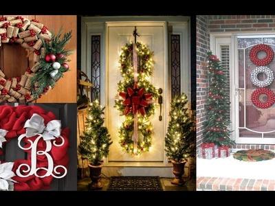 Corona para puerta navideña - Corona para puerta Navidad 2016 - Decoración para navidad 2016