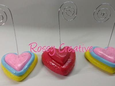 DIY Corazón portafoto en porcelana fría.Regalos San Valentín Recuerdos de boda