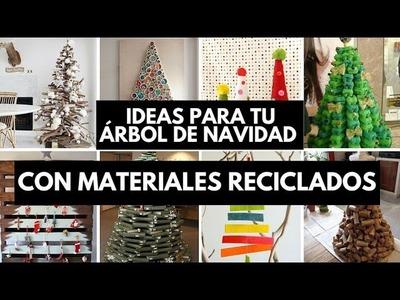 Ideas para tu árbol de navidad con materiales reciclados