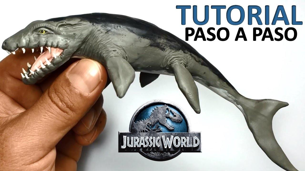 ★ jurassic world - Como hacer un Mosasaurus de plastilina ★ Tutorial clay