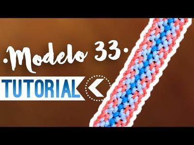 MODELO 33 ♥︎ macramé | Como hacer | How to #pulsera