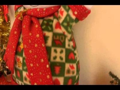 Muñecos Navideños: Cojin Nieve Gordito