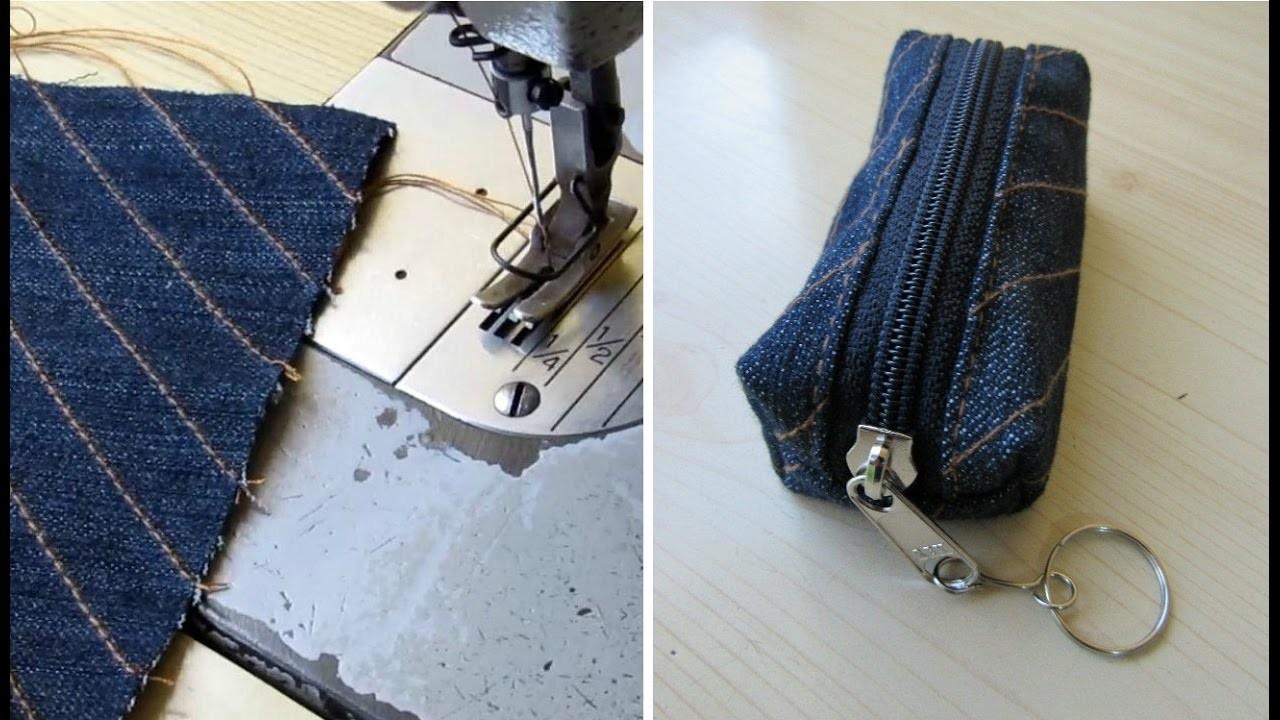 Reciclaje de Jeans: MONEDERO con pantalones usados