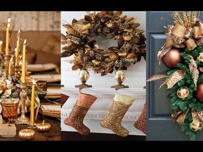 Tendencias de Decoración para Navidad - Decoración Navideña con Color Dorado, Verde y Cobre