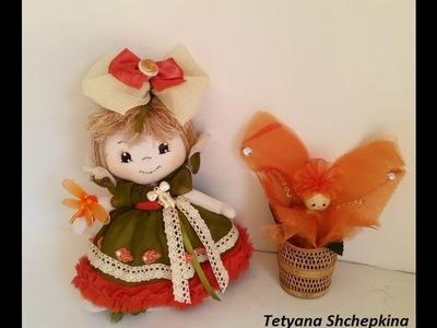26 Tutorial muñeca de tela.Мастер-класс кукла из ткани.