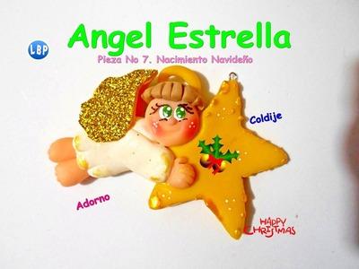 Angelito paso a paso Navideño cold porcelain