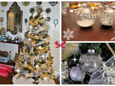 Arbolito de Navidad Esferas y Guirnalda Decoraciones Navideñas del Dollar Store Super Fácil