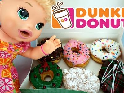 Baby Alive Muñeca Come Dunkin Donuts y Hace Popo en Su Pañal