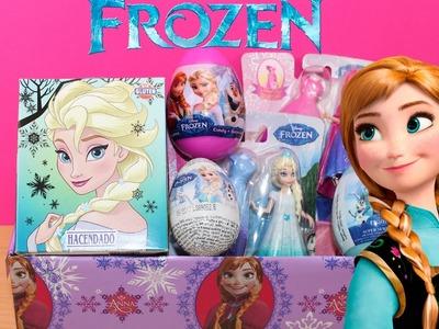 Caja Sorpresa de FROZEN | Huevos Kinder Sorpresa Frozen en español | Juguetes Frozen  Elsa Anna