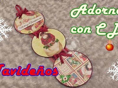 Cómo hacer adornos de Navidad reciclando CDs