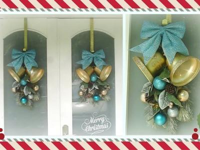 Como hacer un adorno de navidad para la puerta de entrada. Como decorar la puerta en navidad
