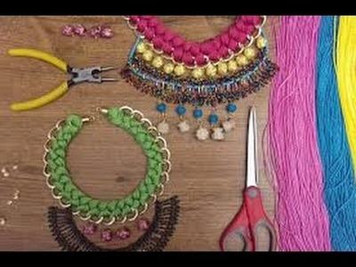 Còmo Hacer un Collar Tejido y Ensamble - Hogar Tv  por Juan Gonzalo Angel