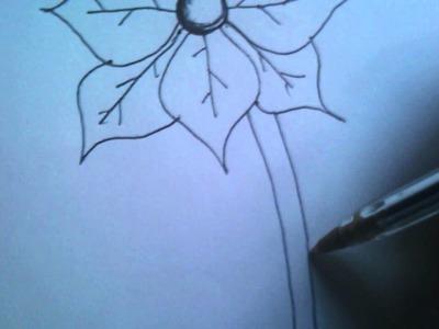 Como hacer una flor de noche buena