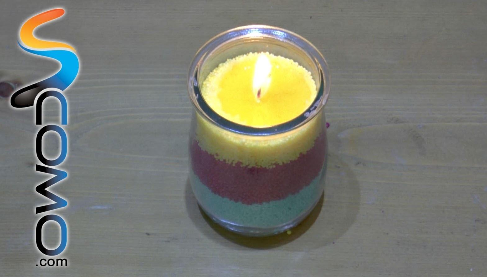 Cómo hacer una vela con un recipiente de cristal