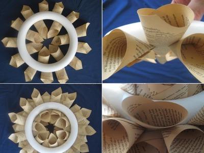 Corona Navideña - Cómo hacer una corona de papel para Navidad