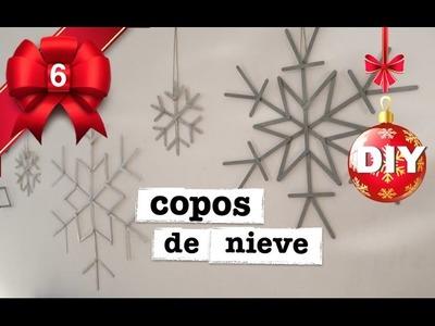 DECORACION NAVIDAD| COMO HACER COPOS DE NIEVE!