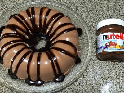 Gelatina De Nutella Con Queso