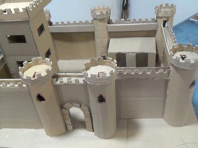 How to make a cardboard castle - Castillo de cartón