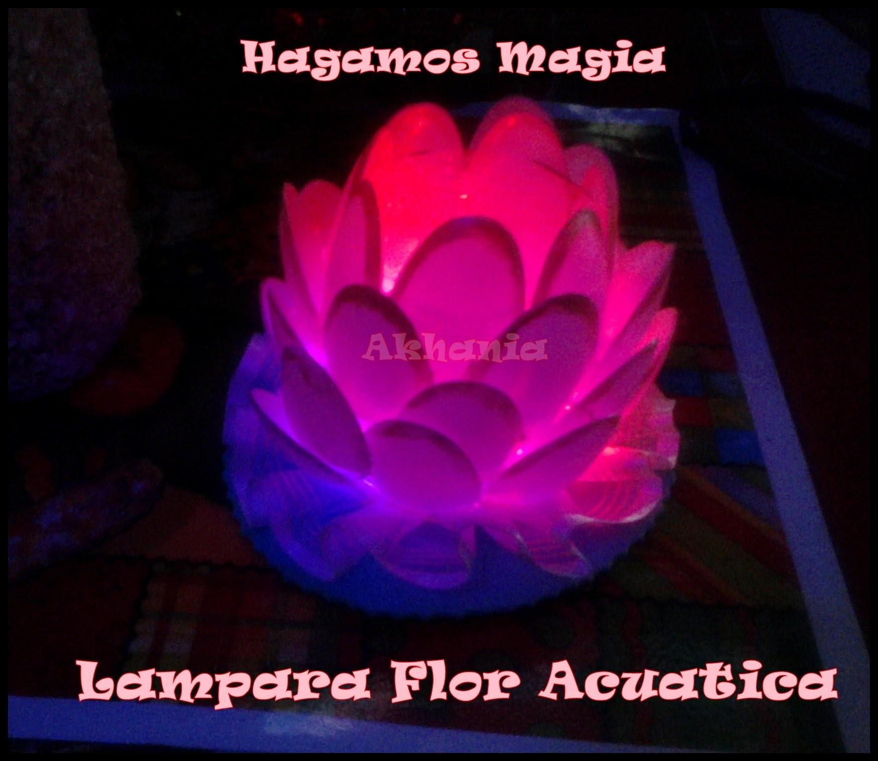 Lampara En forma de Flor Acuatica