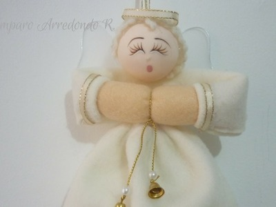 Manualidades para Navidad: COMO hacer ANGELITO para el ÁRBOL  de Navidad DIY ♥