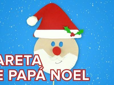Máscara de Papá Noel   Manualidades de reciclaje para Navidad