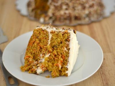 Receta Para Pastel de Zanahoria - Cómo Hacer Una Torta de Zanahoria - Sweet y Salado