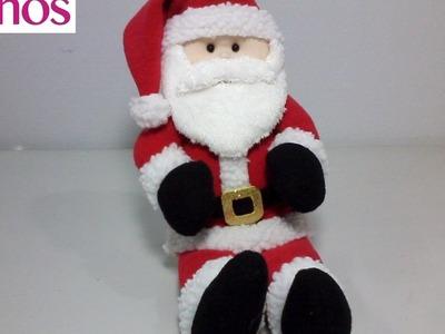 Santa Claus en Paño Lency Hecho a Mano Paso a Paso