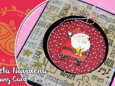 Tarjeta Scrapbook  Navideña Interactiva Spinning card