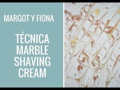 TECNICA: Fondos marmoleado con crema de afeitar ( Marble shaving cream).