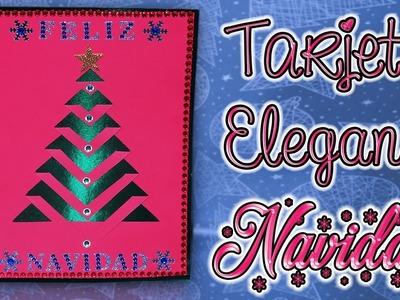 ♥ Tutorial: Tarjeta.Postal Elegante de Navidad || Christmas Postcard ♥
