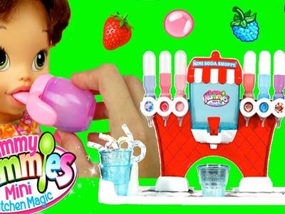 Yummmy Nummies Fabrica de Sodas - La Muñeca Baby Alive toma Soda Gaseosa
