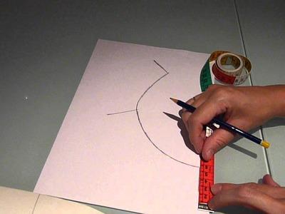 Cómo dibujar el patrón de un cuello tipo Peter Pan o tipo bebé para blusa