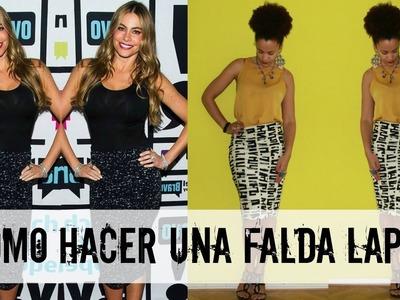 Como Hacer Falda Lápiz como la de Sofia Vergara | DIY Ropas de las Celebridades