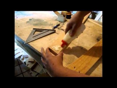 Como hacer un burro de madera muy sencillo  DIY SAWHORSE