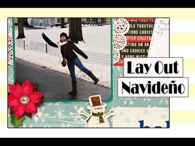 Cómo Hacer una Página de Scrapbook Navideño | Tutorial Layout Navidad | Luisa PaperCrafts