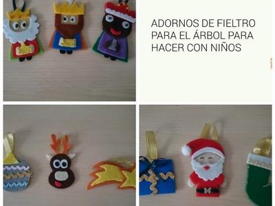 DIY: ADORNOS NAVIDEÑOS CON FIELTRO PARA HACER CON NIÑOS | LaMaletadeRayas
