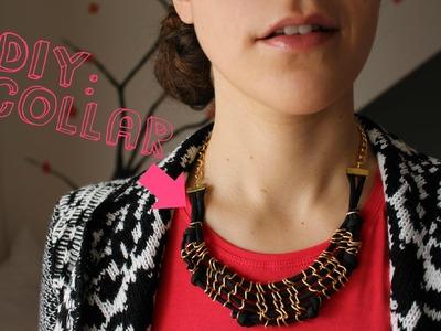DIY: Collar con nudos y cadena ¡Facilísimo!