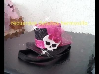 DIY Como Hacer Sombrerito de Monster High para tus niñas