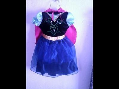 """DIY. Disfraz de Princesa Anna. Frozen para niña + patrones. """"Capa""""."""