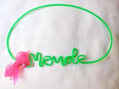 DIY How to make wire name. Cómo hacer nombres con alambre